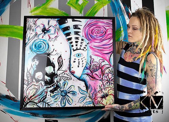 """PRINT Acryl Fineart """"REAL WORLD"""" 70 x 70 cm"""