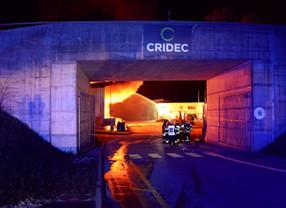 Incendie dans l'usine CRIDEC à Eclépens