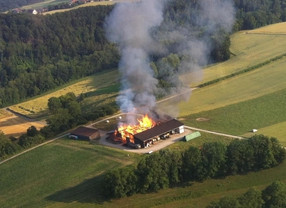 Rural en feu à Ferreyres