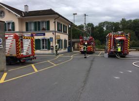 Départ de feu à la gare de Cossonay-Penthalaz