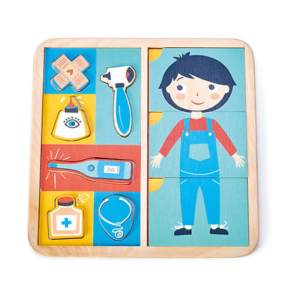 Ouch Wooden Puzzle