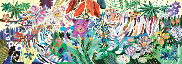 Rainbow Tigers 1000pc Gallery Puzzle