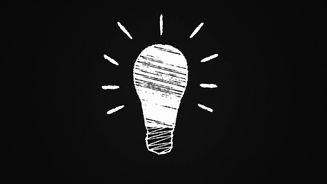 glowing-lightbulb-painted-with-chalk-on-