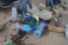 Plastic bottles, soda cans, fishing nets & rubber slippers to name a few. It was a sight for sore eyes and we look forward to anotherbeac cleanup in the near future!