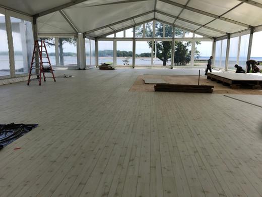 Stamford Tents-White Pickled Cedar