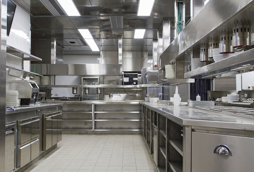 Professional kitchen , view counter in s