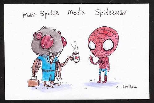 Man Spider Meets Spiderman (Print)
