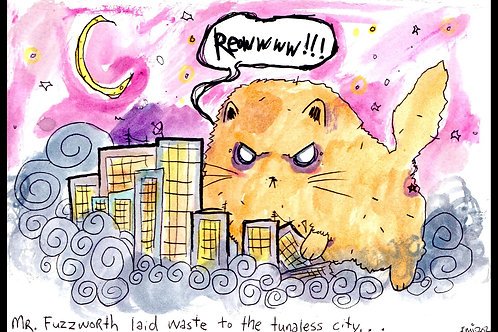 Fuzzy Laid Waste to the City (print)