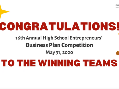 Click to watch the winners of the 2020 Business Plan Competition!