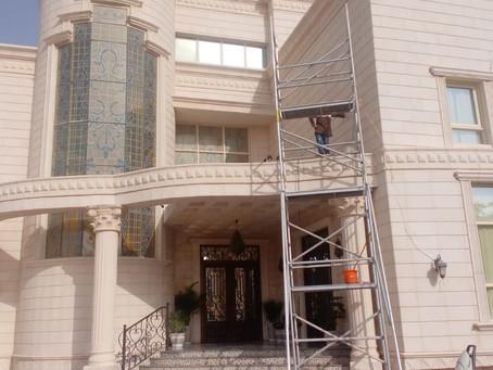 شركة تنظيف واجهات زجاجية في مدينة خليفة