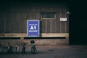 Kostenloses A1 Plakat Mockup