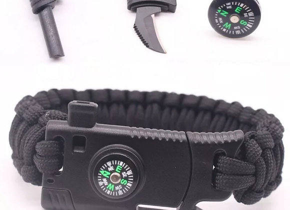 4-in-1 Survival Paracord= Compass, blade, whistle & rope