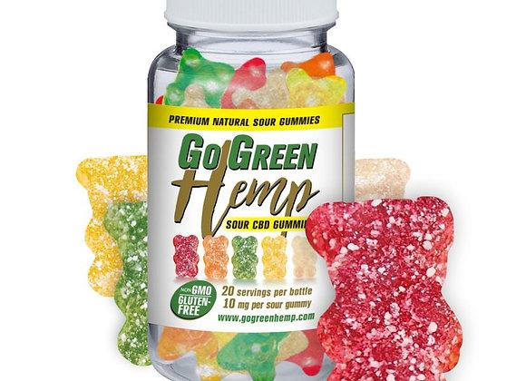 GoGreen Hemp CBD 10mg Sour Gummy Bears