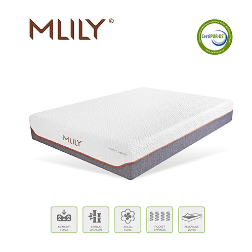 MLILY 11.5'' Fusion Supreme Memory Foam Hybrid Mattress (for sale in store only)
