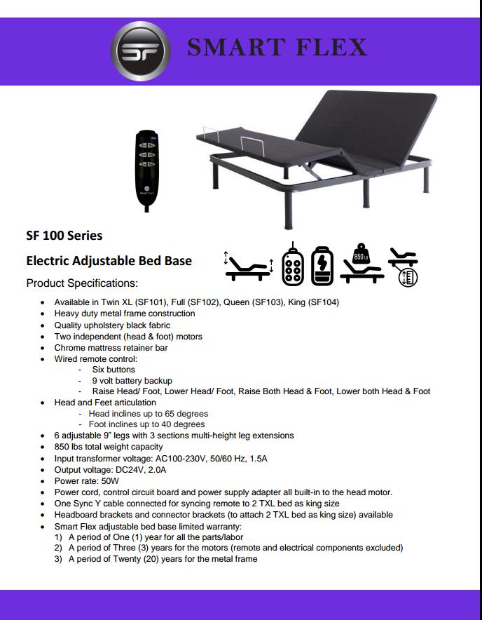 SF100 Bed Base