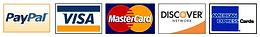 Visa, Mastercard, Paypal, Discover