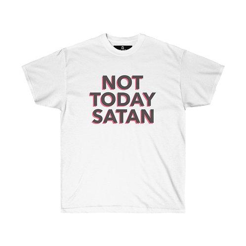 """""""Not Today Satan"""" Unisex Ultra Cotton Tee"""