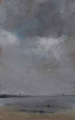 Huile sur medium - 16,6x24,5 cm