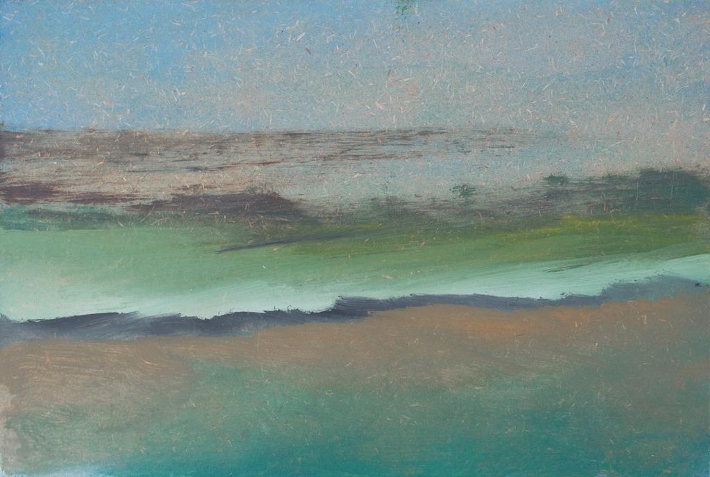 Huile sur medium - 16,5x24,5 cm