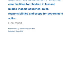 Investigation of the extent of volunteer travel from the Netherlands to residential care...