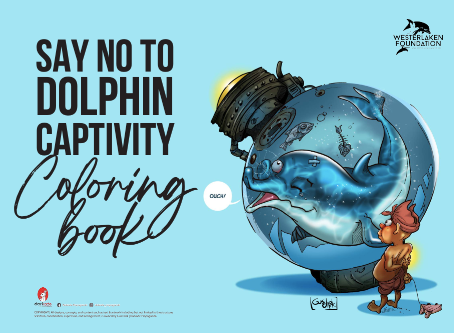 Color book for children about dolphin captivity.