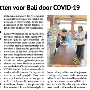 COVID-19 food packages covered in the Dutch Newspaper