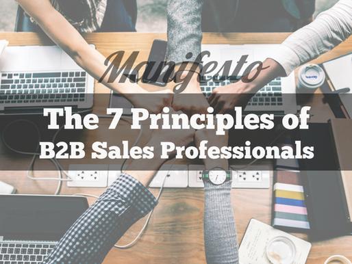 The 7 principles of B2B sales professionals