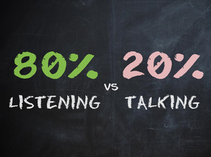 Listen more and talk less - 70Ventures