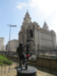 Liverpool Liver Building flying high
