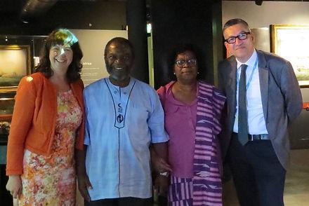 Dr Richard Benjamin, Sue Sinclair, Dr Maria Akrofi, Archbishop Justice Akrofi, Liverpool Slavery Museum