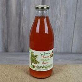 Ferme des Charmettes, Jus de pommes-rhubarbe-fraises, 1 litre