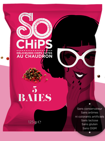 So chips, chips 5 baies, 125 g