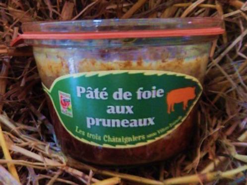 3 châtaigniers, pâté de foie aux pruneaux, pot de 270 g
