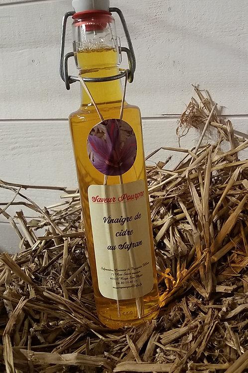 Saveur pourpre, vinaigre de cidre au safran 250 ml