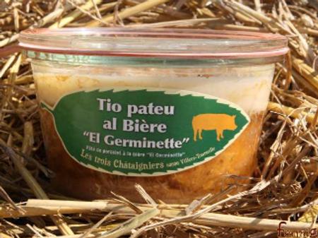 """3 châtaigniers, tio pateu al bière""""el germinette"""", pot de 270 g"""