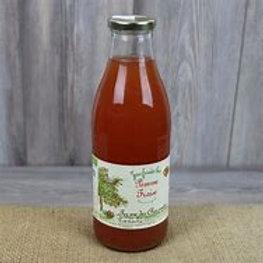 Ferme des Charmettes, Jus de pommes-fraises, 1 litre