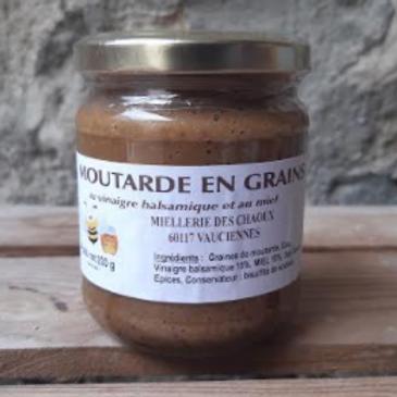 Miellerie des Chaoux, Moutarde en grain au miel