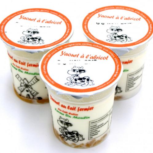 La ferme du moulin, yaourt au lait entier confiture abricot 125 g