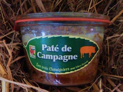 3 châtaigniers, pâté de campagne, pot de 270 g