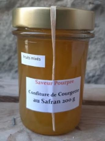 Saveur pourpre, confiture de courgettes au safran, fruits mixés, 200g
