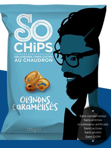 So chips, chips oignons caramélisés, 125 g