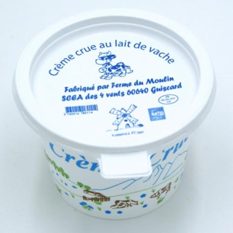La ferme du moulin, crème crue non pasteurisée, 250 g