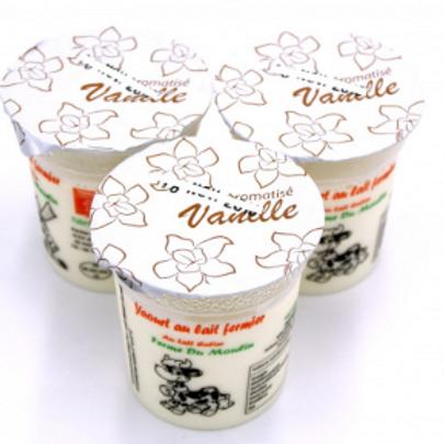 La ferme du moulin, yaourt au lait entier arôme vanille 125 g