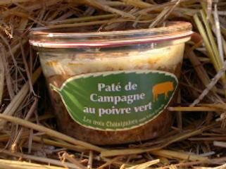 3 châtaigniers, pâté de campagne au poivre vert, pot de 270 g