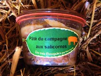 3 châtaigniers, pâté de campagne aux salicornes, pot de 270 g