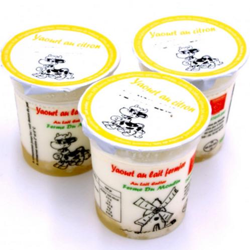 La ferme du moulin, yaourt au lait entier confiture citron 125 g