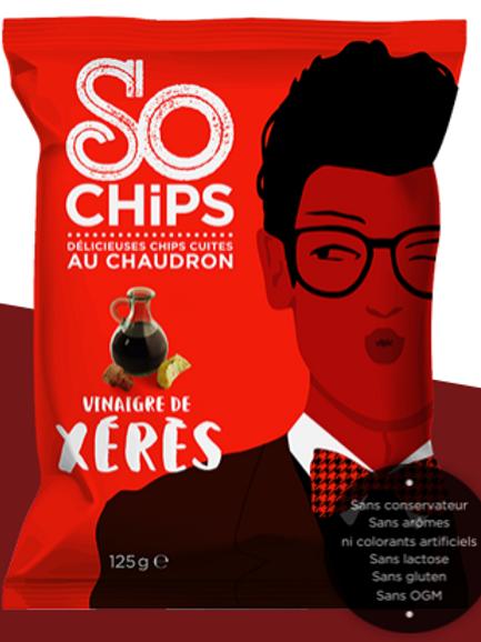 So chips, chips vinaigre de échalotte, 125 g