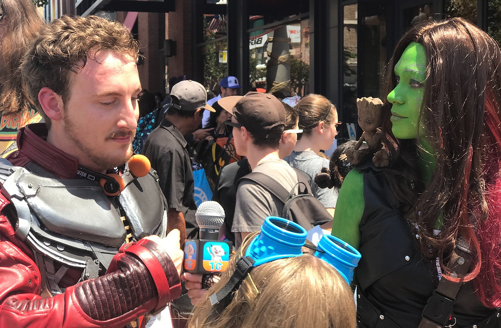 An impressive Starlord and Gamora.