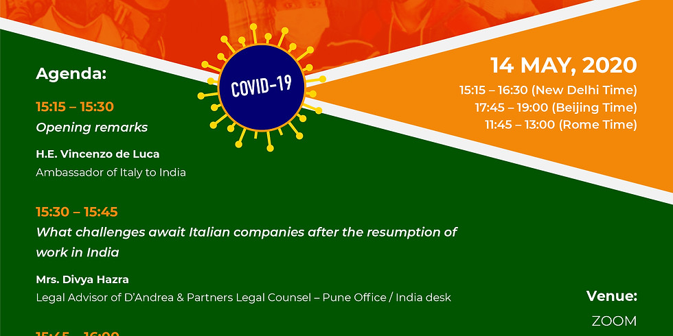 Fighting Against Covid19 - Sharing Experiences between India and Italy