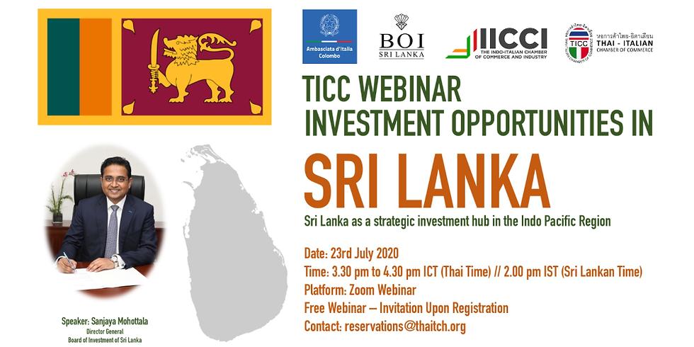 Investment Opportunities in Sri Lanka